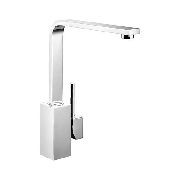 Rangemaster Quadrant Single Lever Brushed Stainless Steel Tap